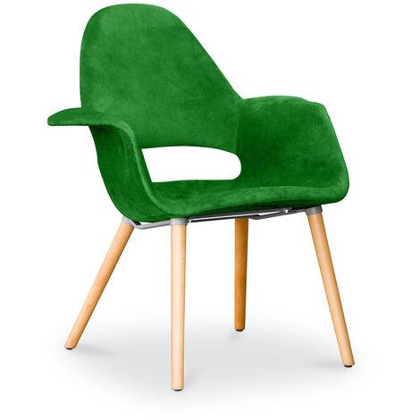 Chaise design scandinave Organic Eero Saarinen - Style - Vert foncé
