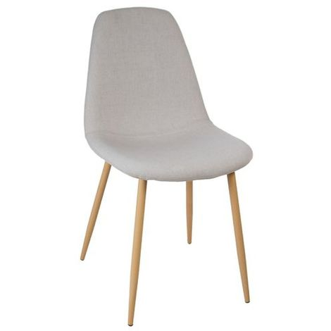 Chaise design scandinave Roka - Gris clair - Gris clair