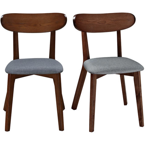 Chaise design vintage pieds (lot de 2) MARIK