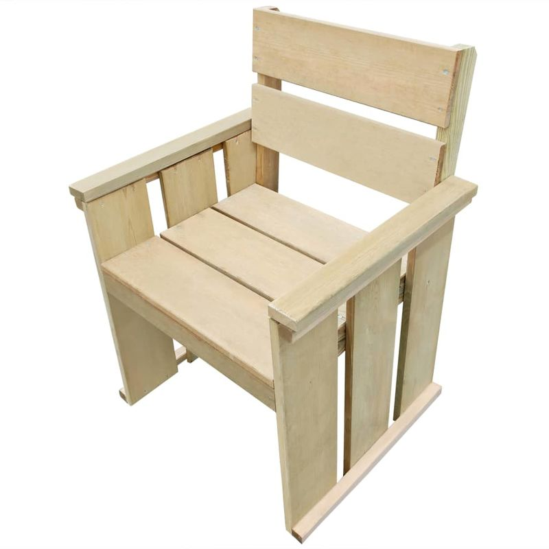 Asupermall - Chaise d'exterieur Pinede impregnee