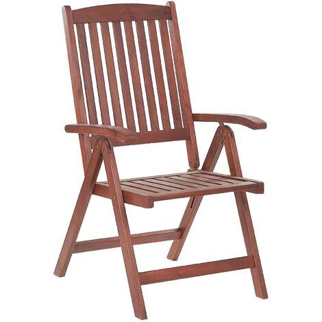 Chaise d'extérieur pliante en bois d'acacia huilé