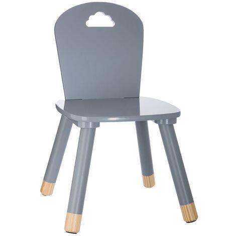Chaise douceur gris pour enfant en bois - Gris