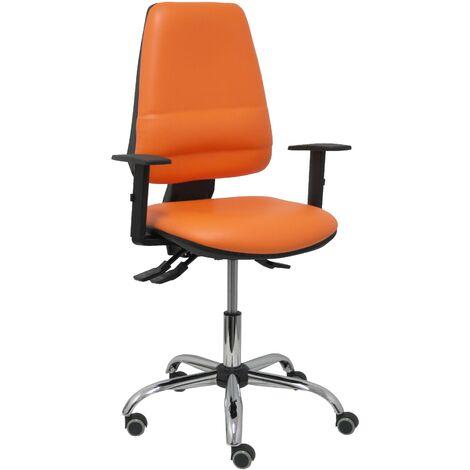 Chaise Elche S 24 heures de couleur orange avec support lombaire