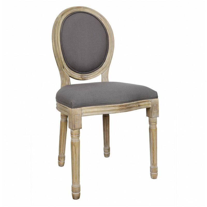 Chaise de table - L 48 cm x P 46 cm x H 96 cm - Eleanor - Taupe - Livraison gratuite