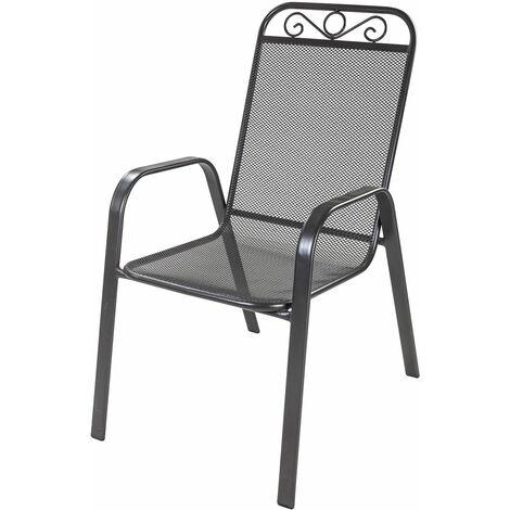 Chaise empilable en métal maillé 'Hollywood'