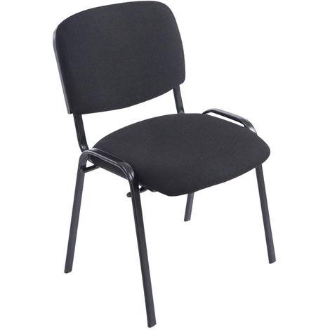 Chaise empilable XL Ken tissu noir