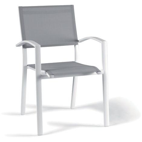Chaise en alu et textilène Adon