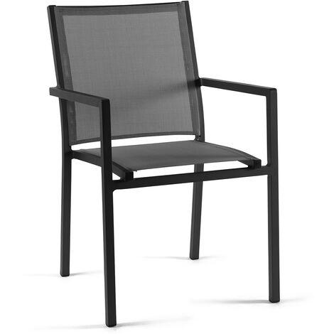 Chaise en alu et textilène Brian