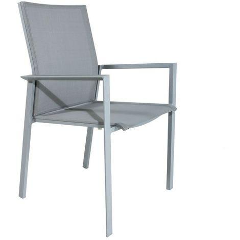 Chaise en alu et textilène Gazzo