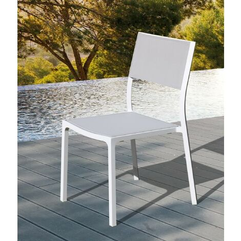 Chaise en alu et textilène Léda
