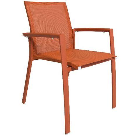 Chaise en aluminium et textilène Sydney
