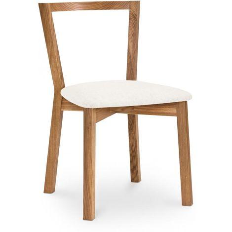 Chaise en bois de salle à manger de style scandinave Blanc