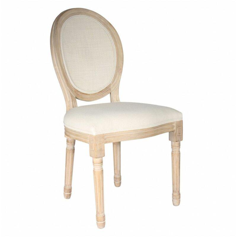 Chaise de table - L 48 cm x P 46 cm x H 96 cm - Eleanor - Canage - Livraison gratuite