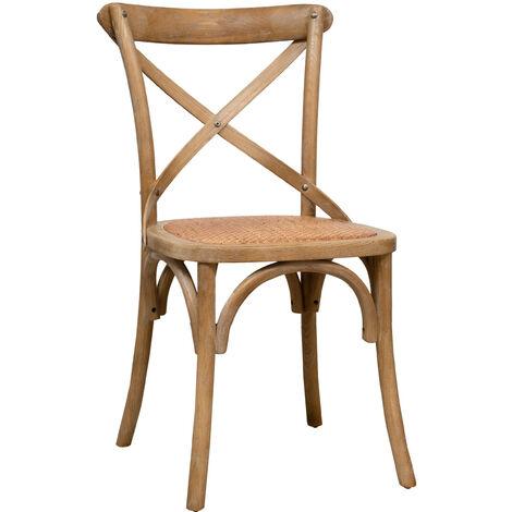Chaise en bois Thonet pour table à manger restaurant pizzeria cuisine fermes arte povera bois vieilli L46xPR42xH86 Cm