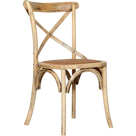Chaise en bois Thonet pour table à manger restaurant pizzeria cuisine fermes arte povera Chêne L46xPR42xH86 Cm