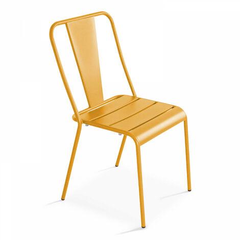 Chaise en métal style industriel, Dieppe
