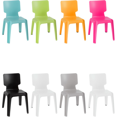 Chaise en plastique robuste empilable TURQUOISE
