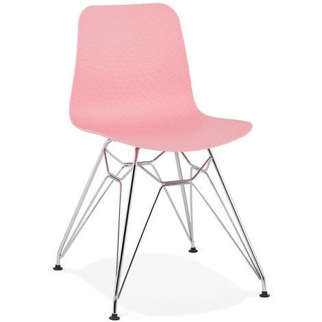 Chaise en plastique Rose - L47 x L49 x H83 cm - USAGE PROFESSIONNEL -PEGANE-