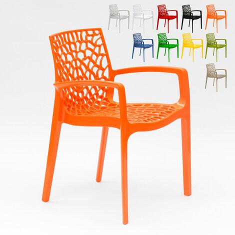 jardin Chaise Grand en café Soleil accoudoirs polypropylène FKc3lJT1