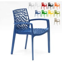 Chaise en polypropylène accoudoirs jardin cafè Grand Soleil GRUVYER ARM
