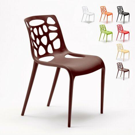 Chaise en polypropylène anti-uv design moderne Gelateria salle à manger et bar café Connubia