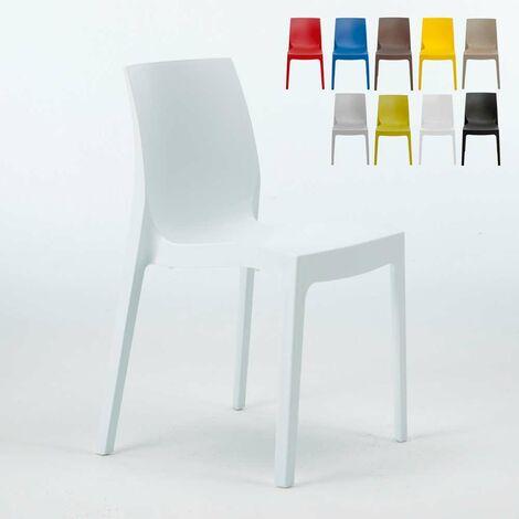 Chaise En Polypropylene Empilable Salle A Manger Cafe Bar Rome Grand