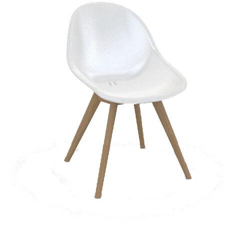Chaise en polypropylène et teck Khol