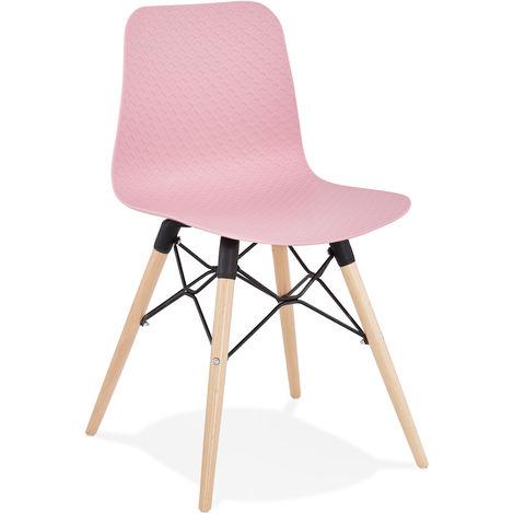Chaise en polypropylène rose - L46 x L47 x H80 cm - USAGE PROFESSIONNEL -PEGANE-