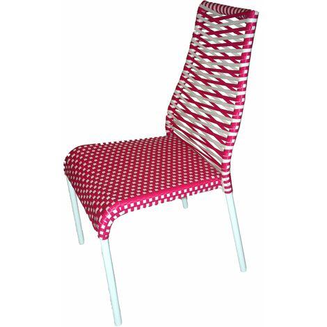 Chaise en résine tressée PRIMAVERA rouge