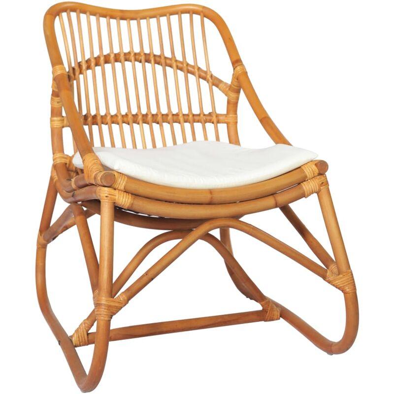 Betterlife - Chaise en rotin Marron clair Lin8209-A