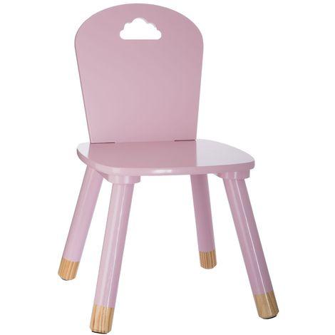Chaise enfant en bois Douceur - Rose - Rose