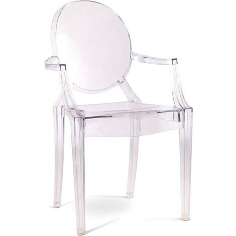 Chaise Enfant Louis XIV Violet transparent
