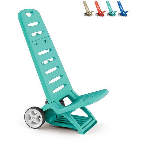 Chaise et chariot de plage pratique Sea Carry-All 2en1 Adriatic Comfort | Turchese