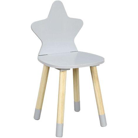 Chaise étoile gris - Gris