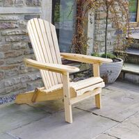 Chaise/Fauteuil Adirondack D'extérieur pour Jardin- avec Repose-Pieds Extensible