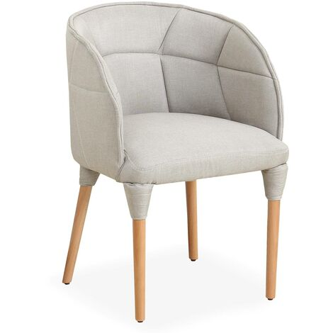 Chaise / Fauteuil Cielo Tissu Beige - Beige