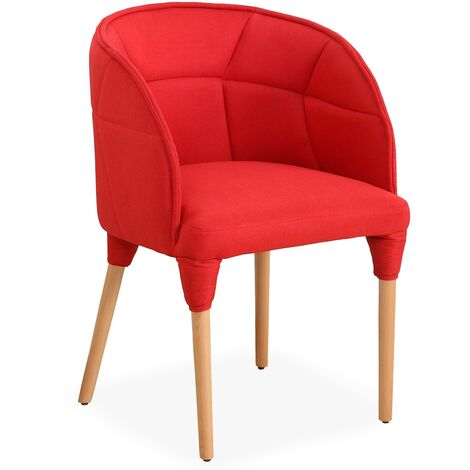 Chaise / Fauteuil Cielo Tissu Rouge