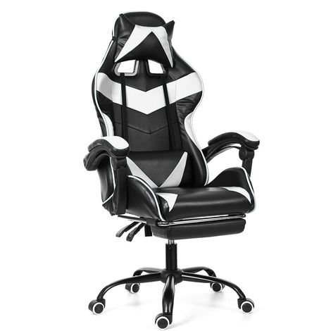 Chaise Fauteuil De Bureau Rouge Gaming Gamer Pivotant Racing Inclinable 150 °