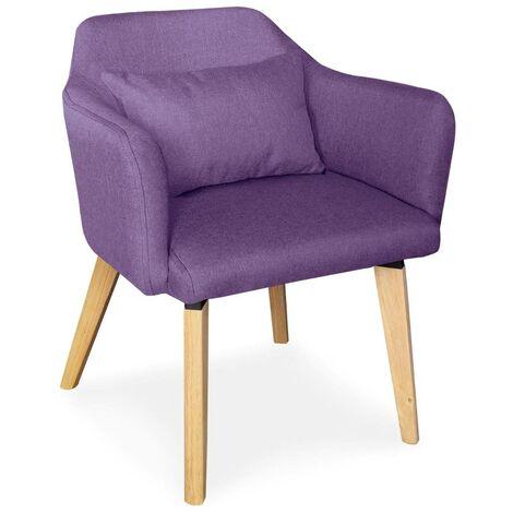 Chaise / Fauteuil scandinave Dantes Tissu Violet - Violet