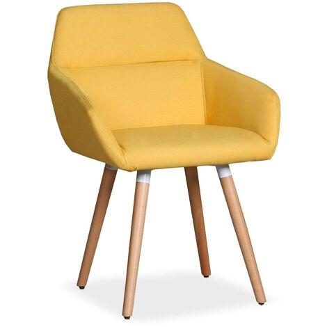 Chaise / Fauteuil scandinave Frida Tissu Beige - Beige