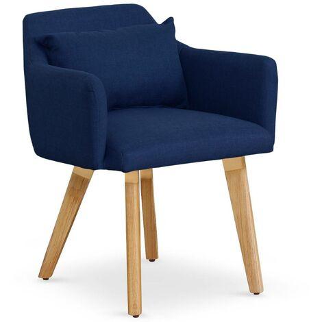 Chaise / Fauteuil scandinave Gybson Tissu Bleu - Bleu