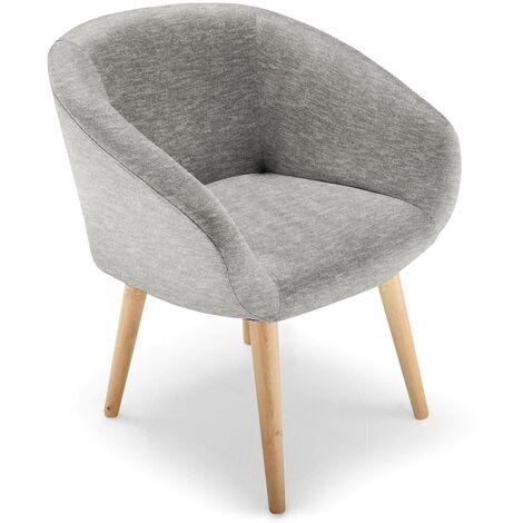 Chaise / Fauteuil style scandinave Frost Gris - Gris