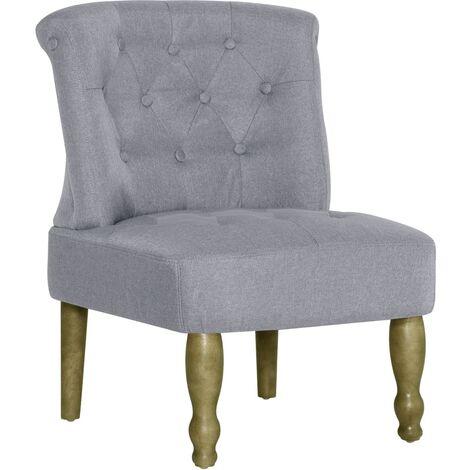 Chaise française Gris clair Tissu