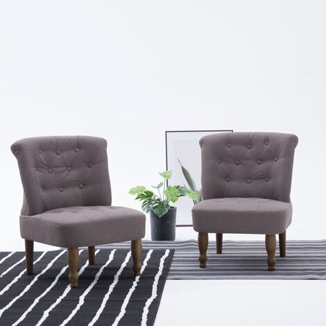 Chaise française Taupe Tissu