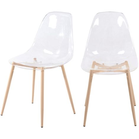 Chaise Fredrik transparente (lot de 2) - Transparent