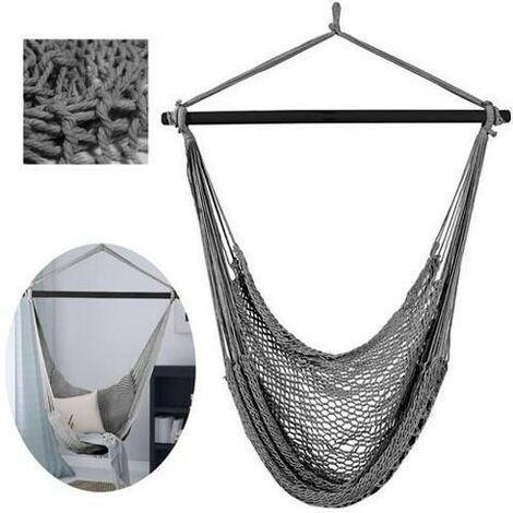 Chaise hamac Chaise hamac coton tissu tissé corde balançoire d'intérieur / extérieur 5885