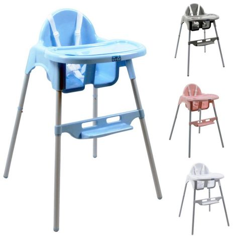 Chaise haute bébé réglable hauteur et tablette - Délice - Monsieur Bébé