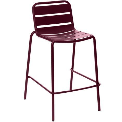 Chaise haute de jardin empilable design Phuket - Bordeaux - Bordeau