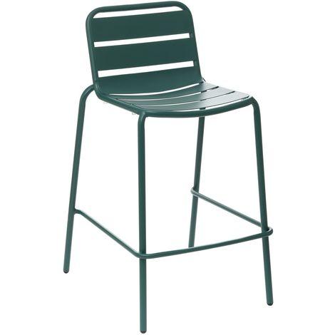 Chaise haute de jardin empilable design Phuket - Vert yucca - Vert