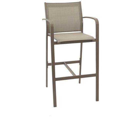 Chaise haute de jardin Gallio ZENDART OUTDOOR - Champagne - Extérieur - Champagne